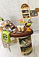 Детский супермаркет с тележкой 668-68 касса, сканер для продуктов, кофемашина, стеллажи Т, фото 3