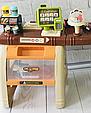 Детский супермаркет с тележкой 668-68 касса, сканер для продуктов, кофемашина, стеллажи Т, фото 4