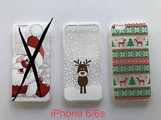 Новогодний силиконовый чехол на iPhone 6/6s