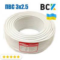 Провод кабель ПВС 3x2.5 ГОСТ цена от бухты 100м для подключения при монтаже и установках кондиционера
