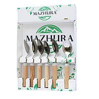 Набір чайних ложок Beech wood MAZHURA 6 приладів
