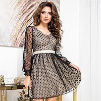 """Золотистое блестящее платье коктейльное """"SALUTE"""", фото 1"""