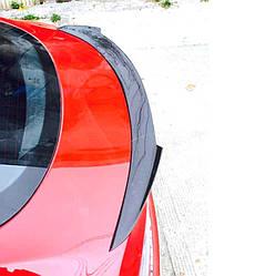 Спойлер Tesla Model S сабля тюнинг (под покраску)