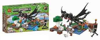 """Конструктор Bela """"Minecraft"""" 11265 Нападение Черного Дракона, 283 деталей"""