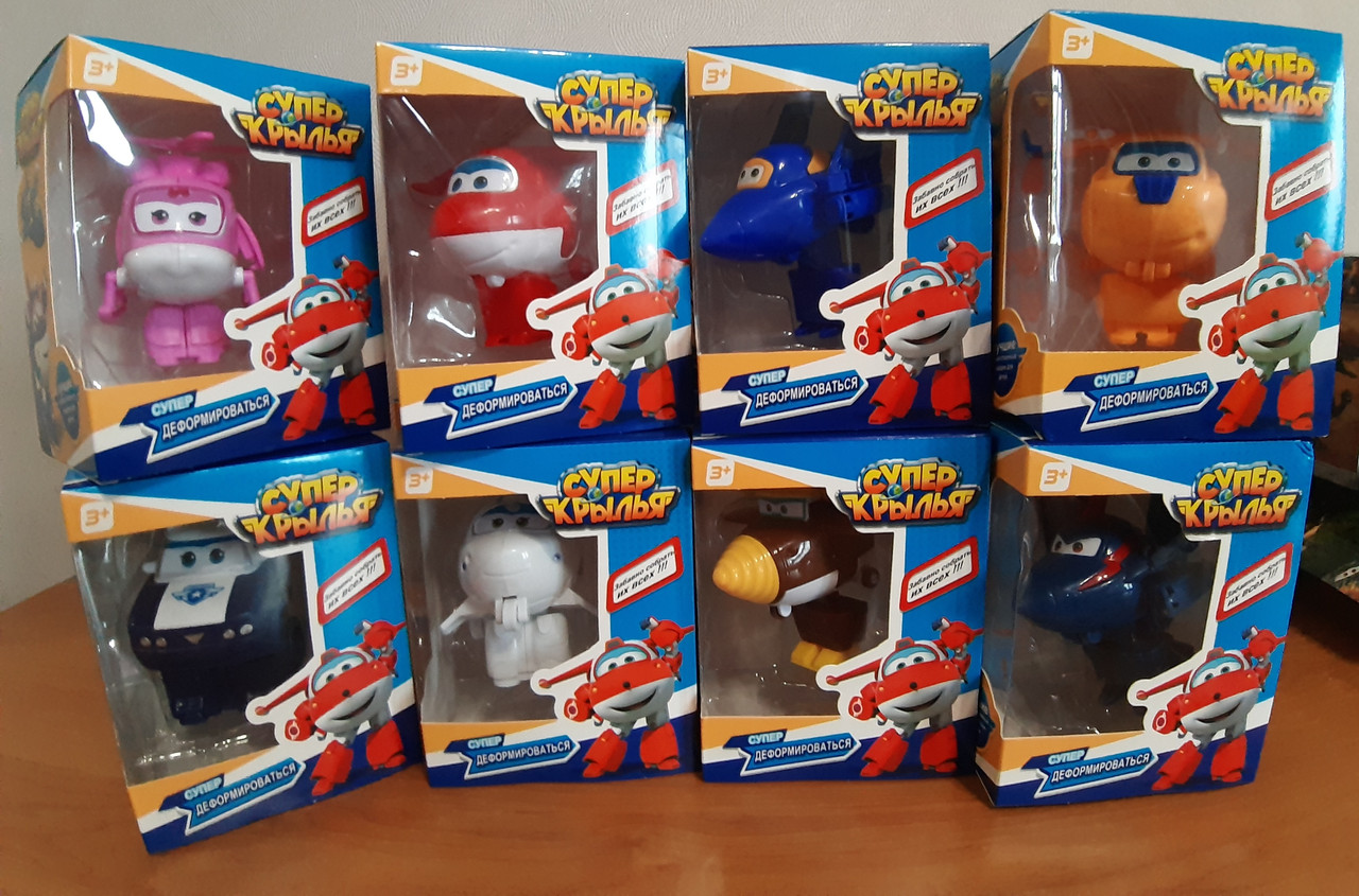 Игрушки Супер крылья Джет и его друзья набор из 8 шт.
