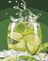 Картина по номерам ArtStory Лаймовый напиток 40*50см