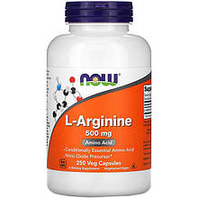 "L-Аргинин NOW Foods ""L-Arginine"" 500 мг (250 капсул)"