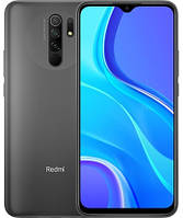 "Смартфон Xiaomi Redmi 9 4/128GB Grey, 13+8+5+2/8Мп, Helio G80, 2sim, 6.53"" IPS, 5020 mAh, 4G (LTE), фото 1"
