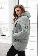 Куртка-парка женская арт. 300, шалфей