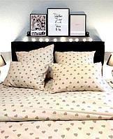 Комплект постельного белья Home Бязь Голд Сердца 200x220 наволочки 50x70 или 70x70 SKL64-277995