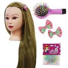 Тренувальна голова манекен для створення зачісок з набір аксесуарів для плетіння