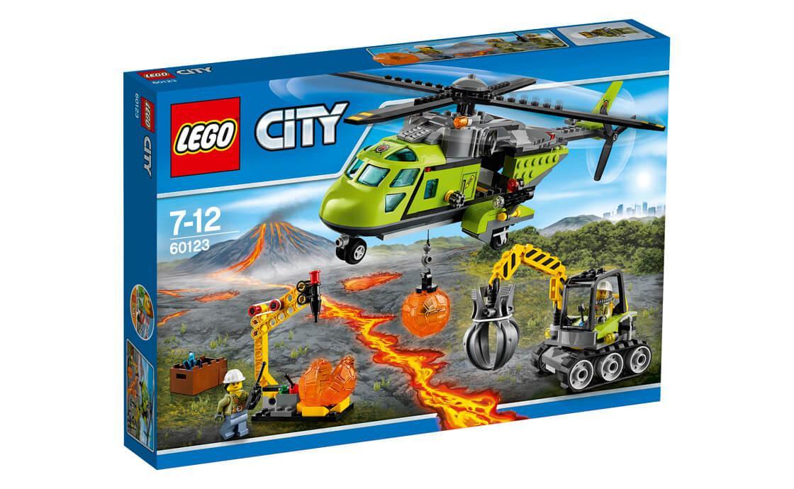 Конструктор LEGO Вулкан: вертоліт для доставки 330 деталей (60123)