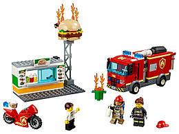 Конструктор LEGO Пожар в бургер-баре 327 деталей (60214)