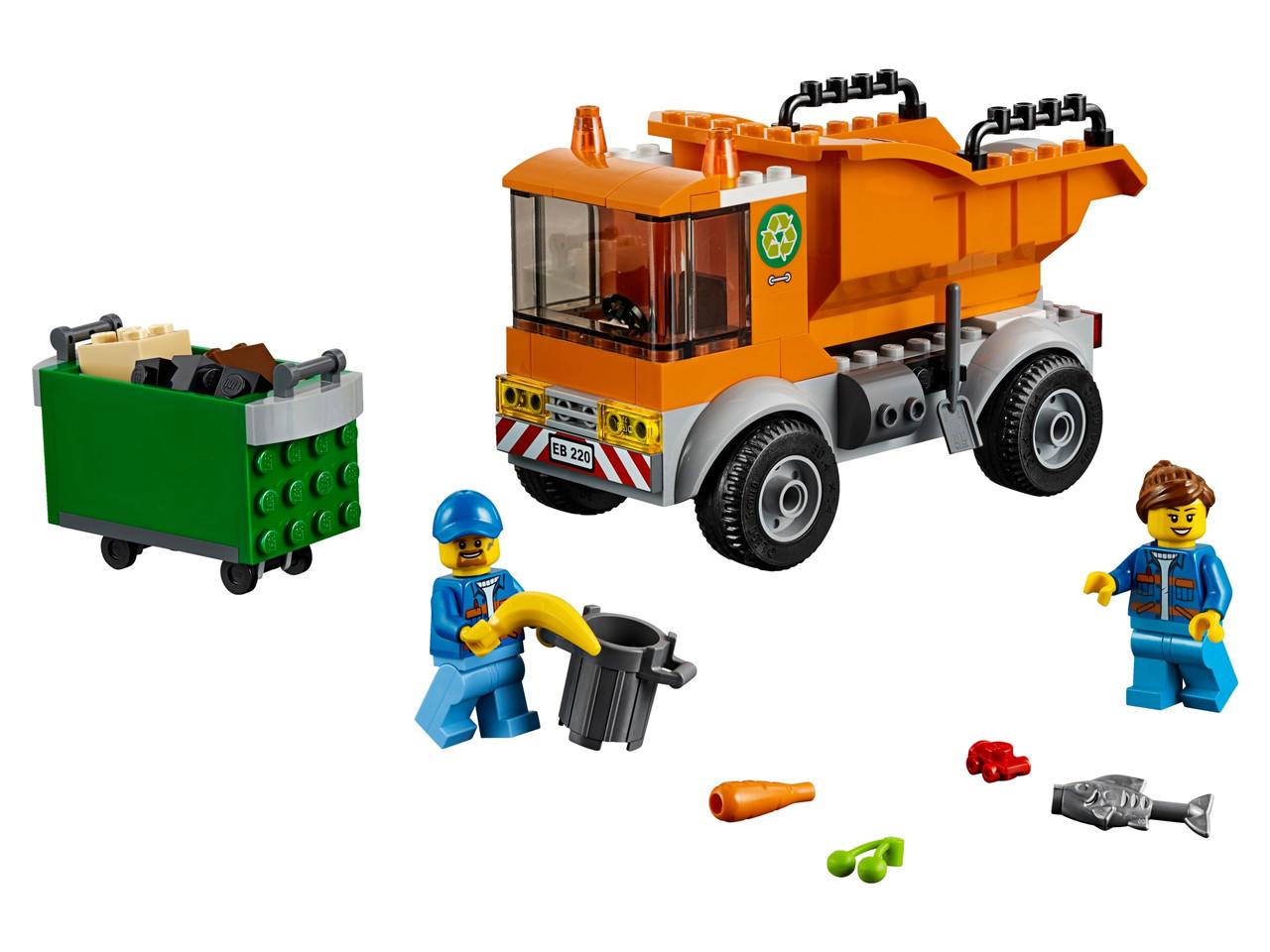 Конструктор LEGO Мусоровоз 90 деталей (60220)