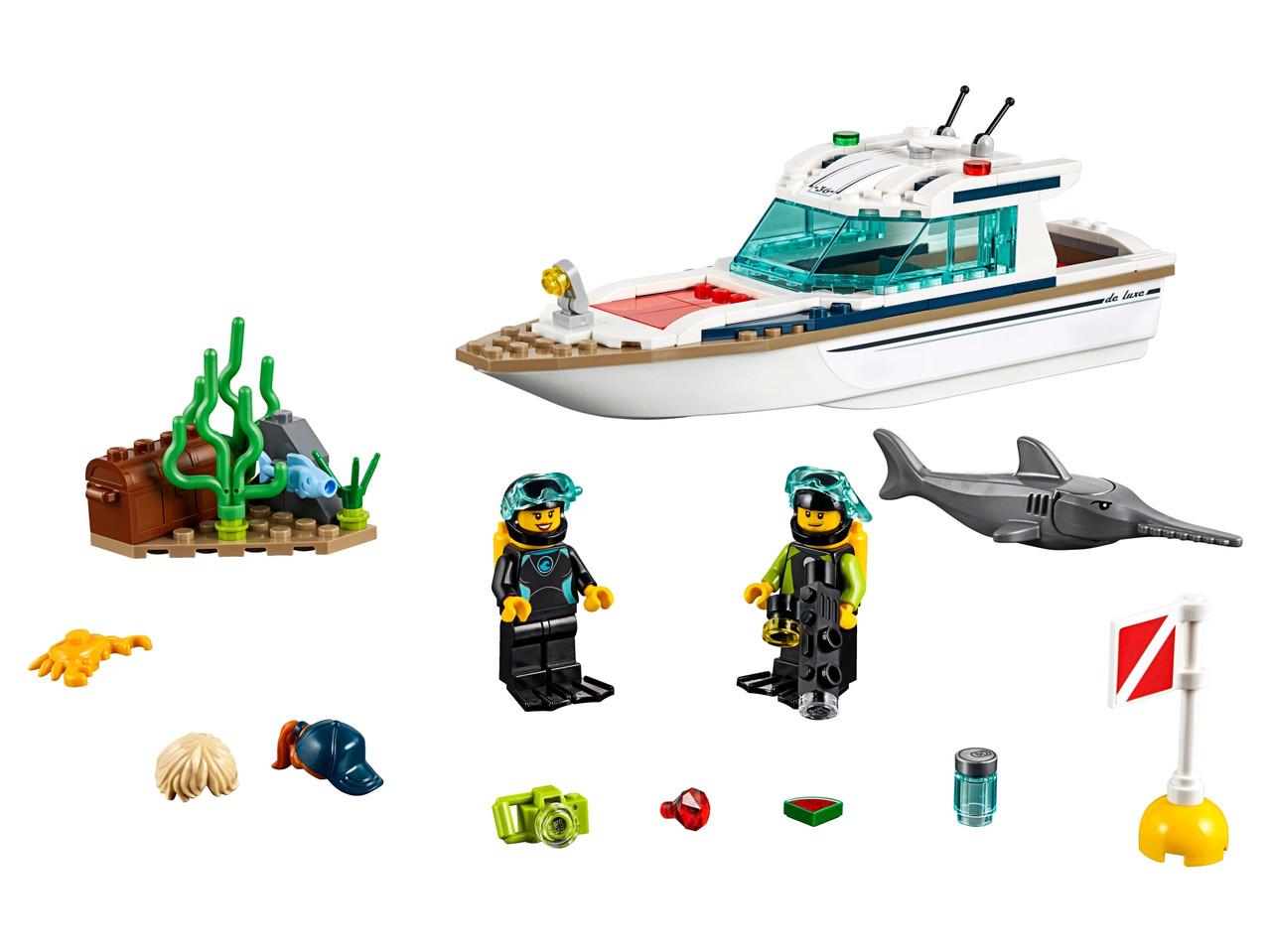 Конструктор LEGO Яхта для дайвинга 148 деталей (60221)