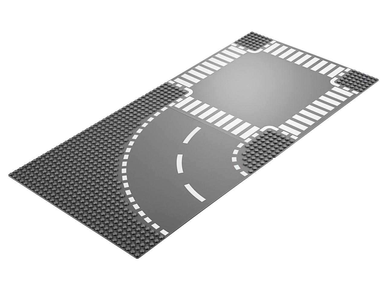 Конструктор LEGO Поворот и перекресток 2 деталей (60237)