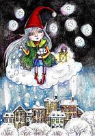 """Открытка """"Снегопад"""", фото 1"""