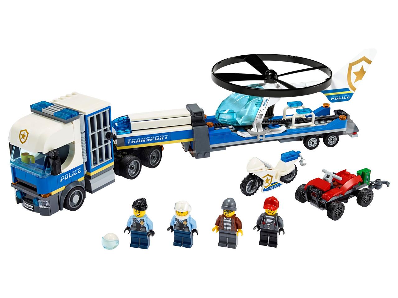 Конструктор LEGO Полицейский вертолётный транспорт 317 деталей (60244)