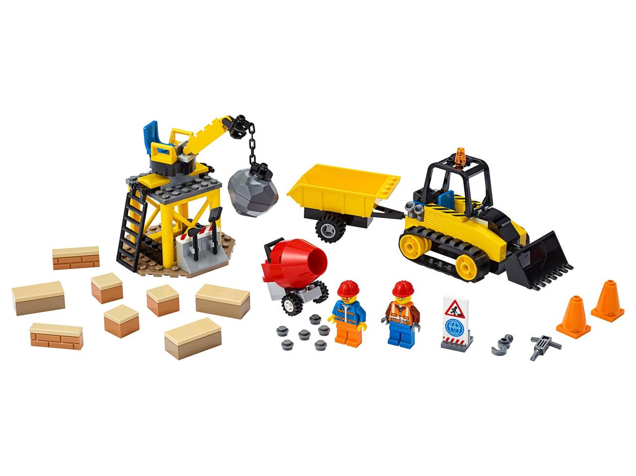 Конструктор LEGO Строительный бульдозер 126 деталей (60252)
