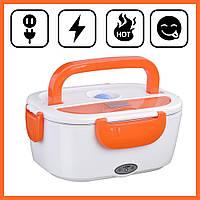 Ланч-бокс с подогревом от сети 220V Оранжевый Electric lunch box Контейнер для еды судок для обедов