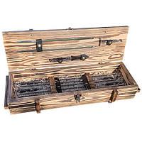 Набор шампуров Gorillas Market Рыцарь Gorillas BBQ в деревянной коробке (hub_xuGd16562)
