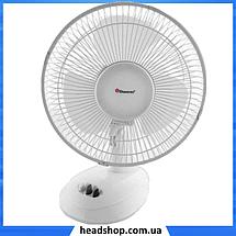Вентилятор настольный DOMOTEC MS-1623 - Качественный вентилятор с прищепкой, 2 режима, фото 2