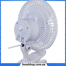 Вентилятор настольный DOMOTEC MS-1623 - Качественный вентилятор с прищепкой, 2 режима, фото 3