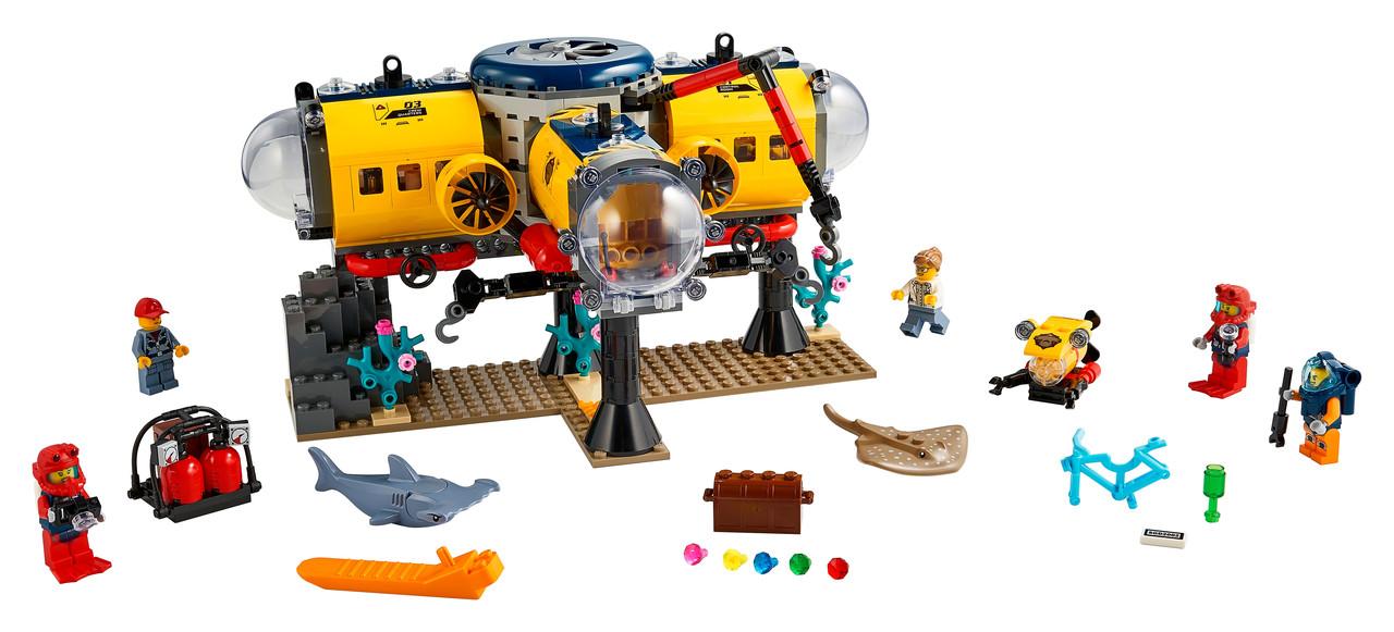 Конструктор LEGO Океан: науково-дослідна станція 497 деталей (60265)