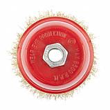 """Щетка """"чашка"""" для УШМ 100 мм, М14 металлическая MTX, фото 3"""
