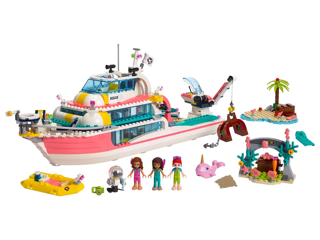 Конструктор LEGO Катер для спасательных операций 908 деталей (41381)