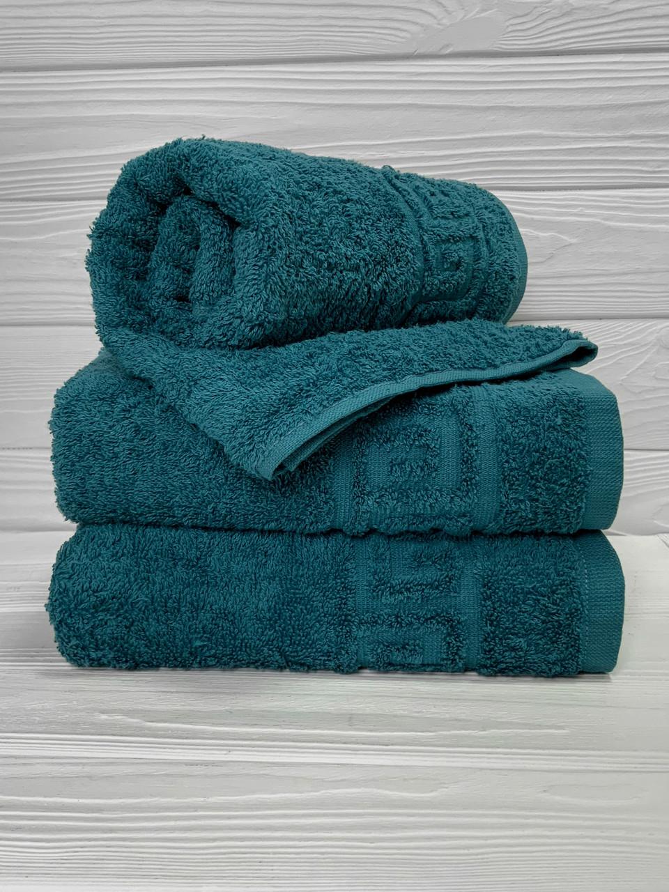 Махровое полотенце для рук, Туркменистан, 430 гр\м2, морская волна, 40*70 см