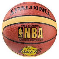 М'яч баскетбольний Spalding №7 PVC NBA Lakers