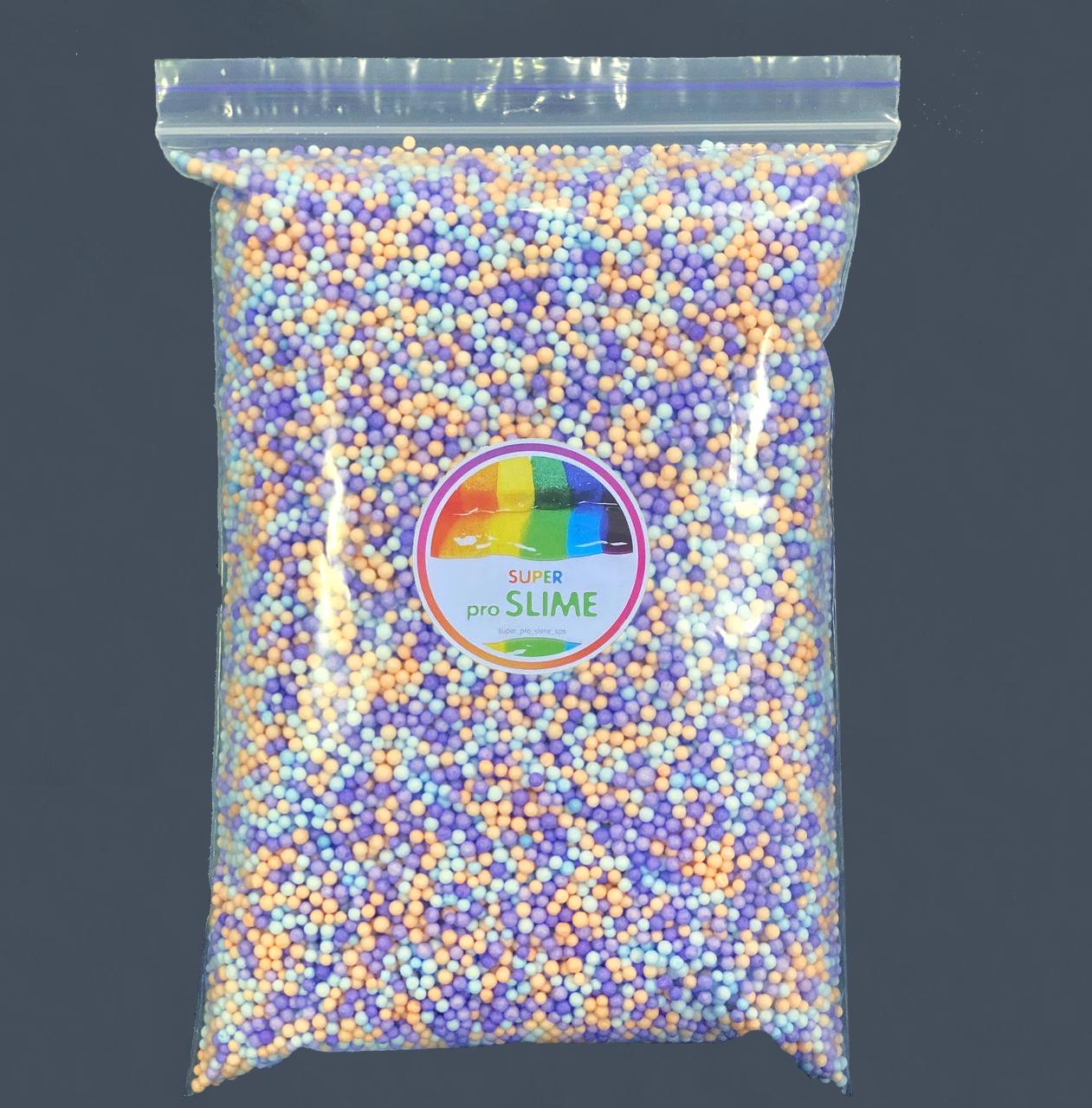 Пінопластові кульки 2-3 мм Асорті бузкове (1000 мл)