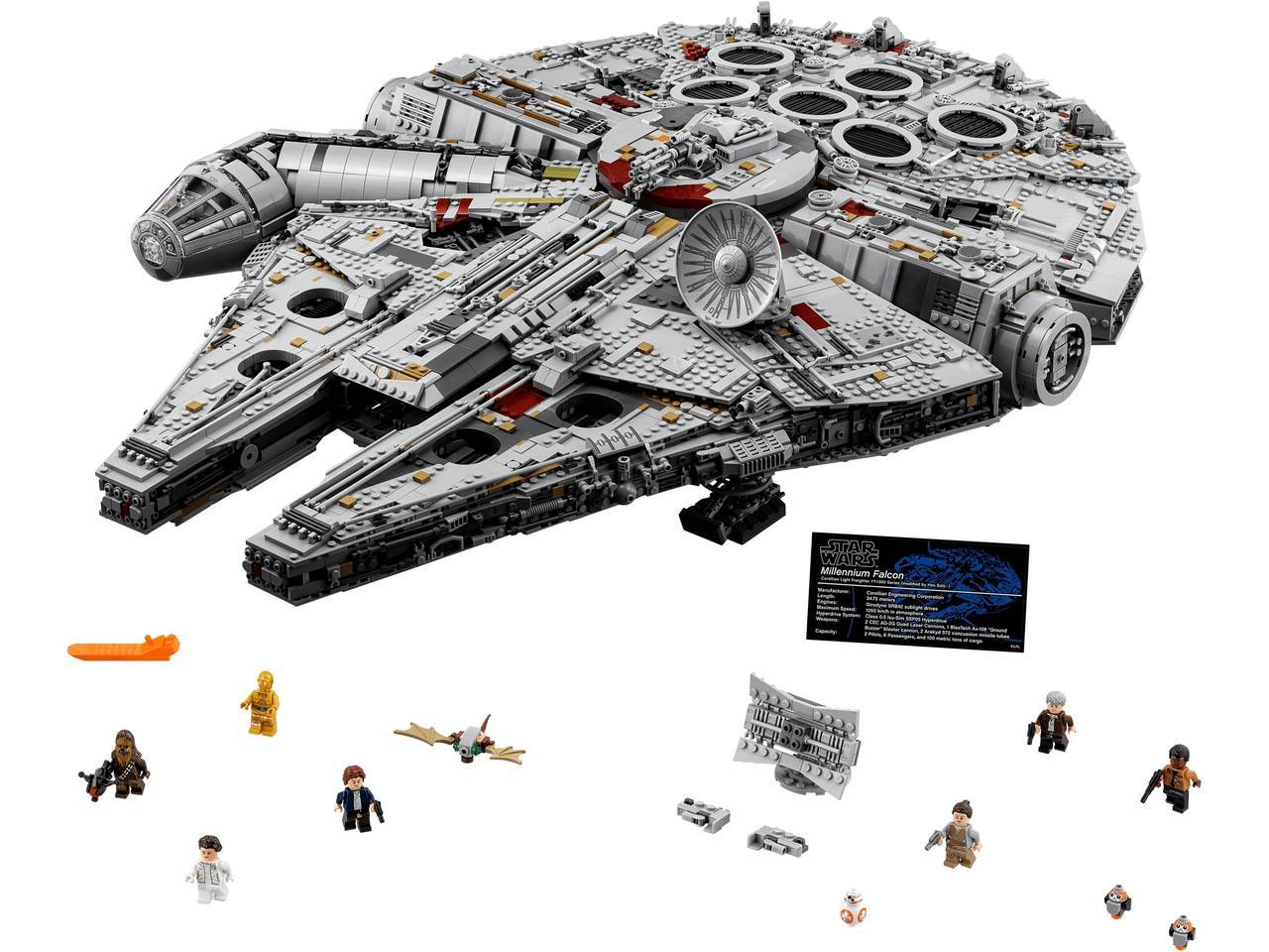 Конструктор LEGO Сокол тысячелетия 7541 деталей (75192)
