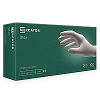 ПЕРЧАТКИ ЛАТЕКСНЫЕ MERCATOR LATEX ОПУДРЕННЫЕ (100 ШТ./УП.)