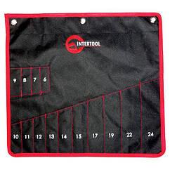 Чехол для гаечных ключей 14 карманов 430 х 430 мм INTERTOOL (BX-9009)