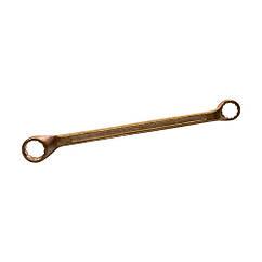 Ключ гаечный накидной омедненный 17 * 19 КЗСМИ КГН-М17х19