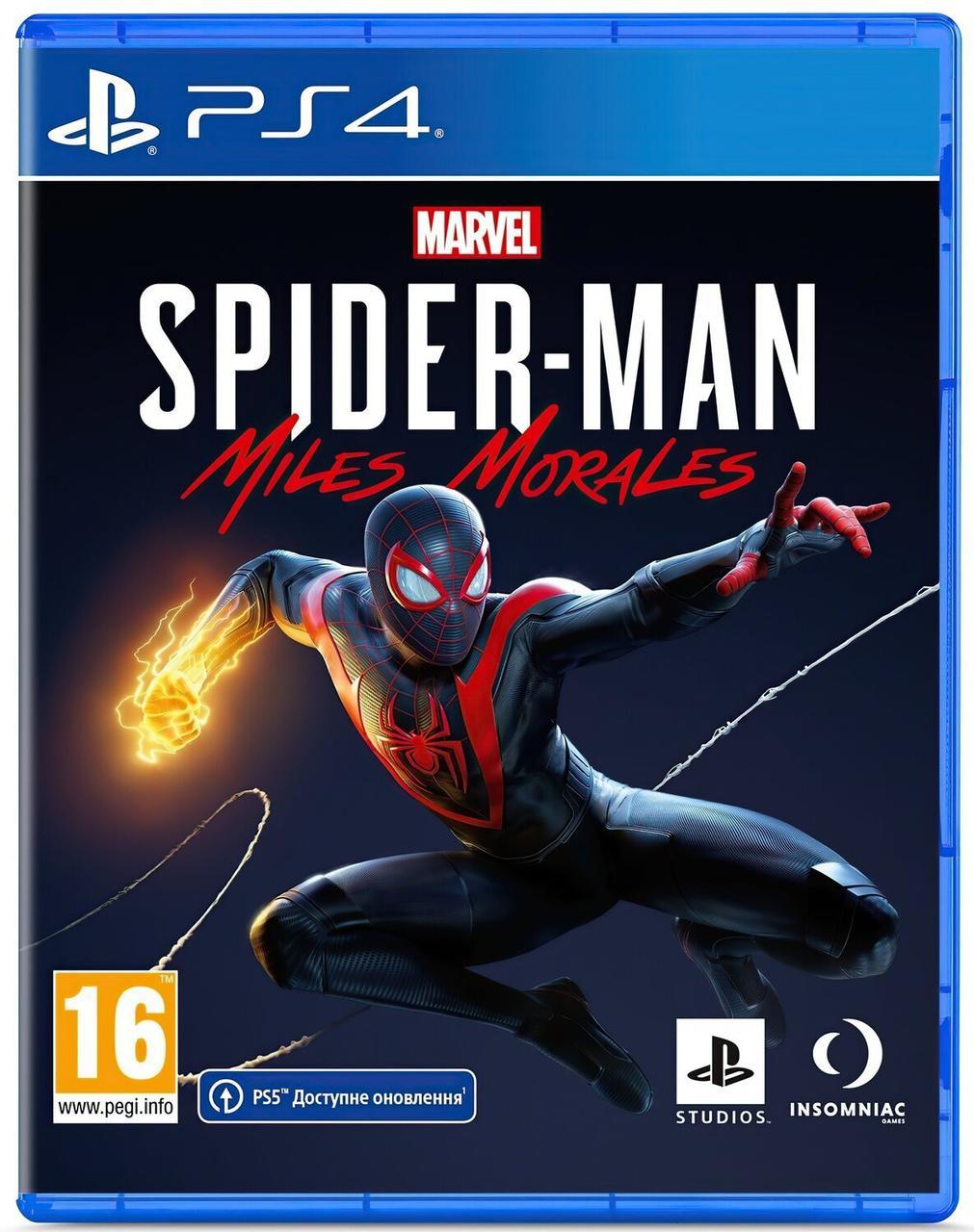 Игра Marvel Spider-Man: Miles Morales (PS4, Русская версия)