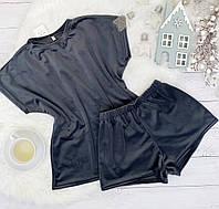 Женский плюшевый комплект футболка и шорты
