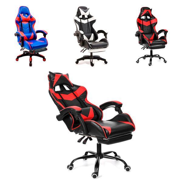 Кресло офисное компьютерное игровое VECOTTI GT геймерское с подставкой
