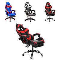 Кресло офисное компьютерное игровое VECOTTI GT геймерское с подставкой, фото 1