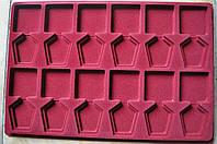 Планшет Schulz на 12 орденов + прозрачный футляр Темно-красный S56, КОД: 1615005
