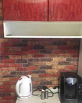 3D панель самоклеючі 700х770х5 мм Шпалери під декоративну цеглу Самоклейка 3Д Червоно-коричневий цегла, фото 2