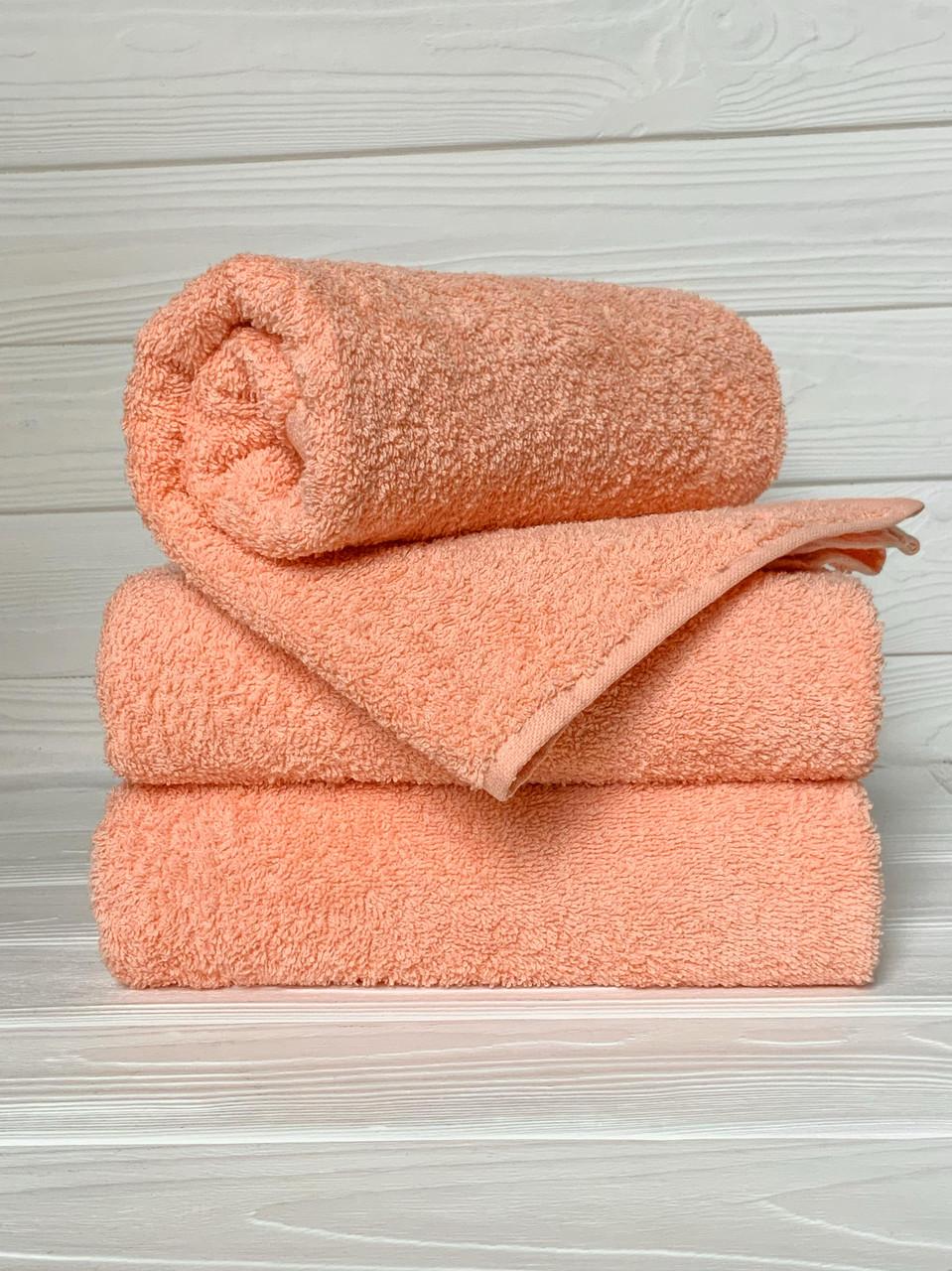 Махровое полотенце для рук, Туркменистан, 430 гр\м2, персиковое, 40*70 см