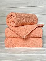 Махровое полотенце для рук, Туркменистан, 430 гр\м2, персиковое, 40*70 см, фото 1