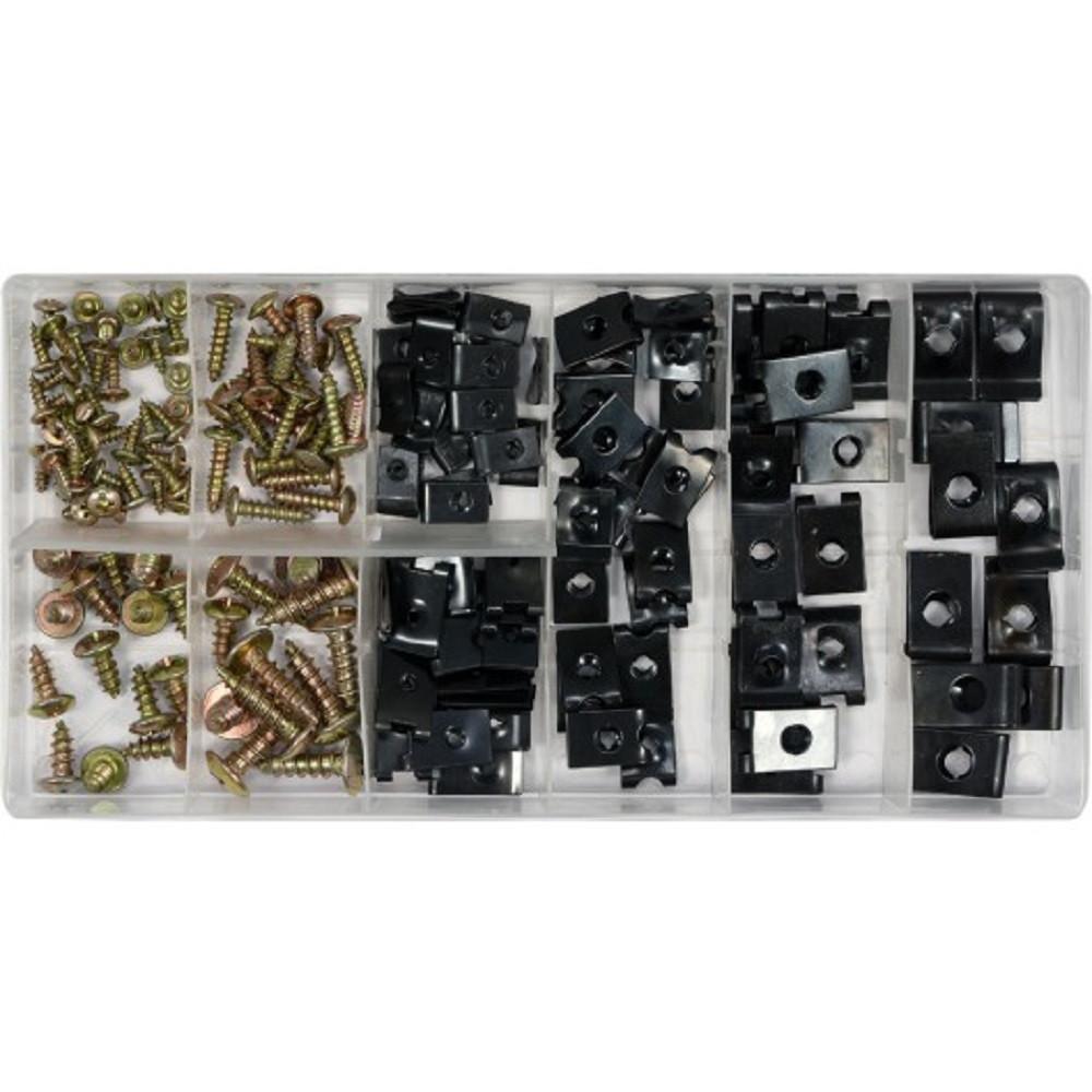 Саморезы+Металлические Клипсы Набор(Комплект)170 шт YATO YT-06780