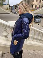 Стильная зимняя куртка пуховик Hailuozi 213-B3, фото 2