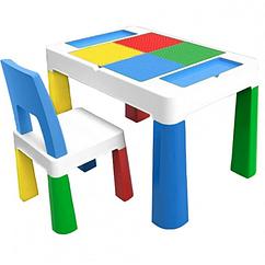 """Детский функциональный столик POPPET """"Колор Блу 5 в 1"""" и стульчик"""