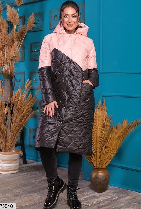 Пальто-курточка 75540 батальная