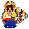 Матрешка 5 кук. Украинская семья (15см)